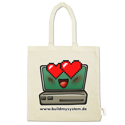 Motiv: Baumwolltasche - Build My System Love