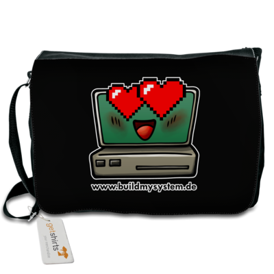Motiv: Schultertasche - Build My System Love