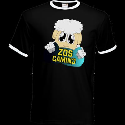 Motiv: T-Shirt Ringer - ZOS Schaf mit Kuschelkissen