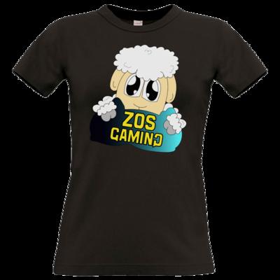 Motiv: T-Shirt Damen Premium FAIR WEAR - ZOS Schaf mit Kuschelkissen