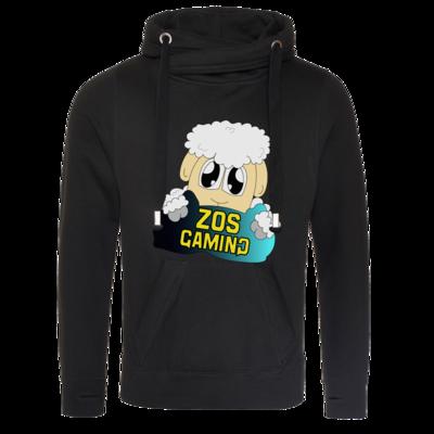 Motiv: Cross Neck Hoodie - ZOS Schaf mit Kuschelkissen