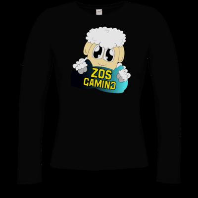 Motiv: Longsleeve Damen Organic - ZOS Schaf mit Kuschelkissen