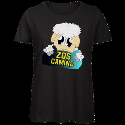 Motiv: Organic Lady T-Shirt - ZOS Schaf mit Kuschelkissen