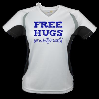 Motiv: Laufshirt Lady Running T - Free Hugs #01