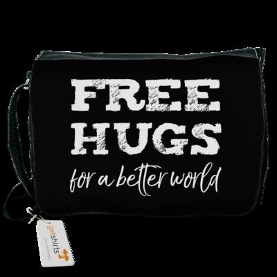 Motiv: Schultertasche - Free Hugs #01