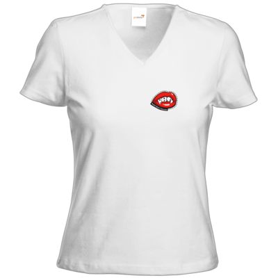 Motiv: T-Shirts Damen V-Neck FAIR WEAR - Halloween 2019 - Mund