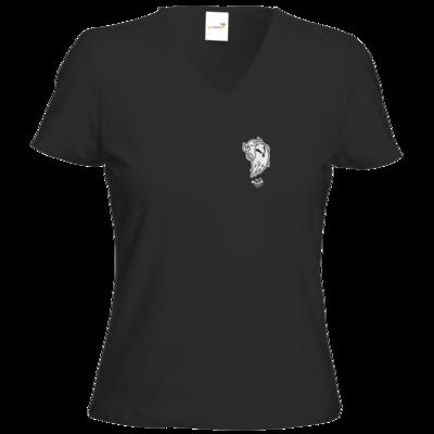 Motiv: T-Shirts Damen V-Neck FAIR WEAR - Halloween 2019 - Geist