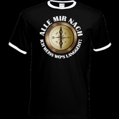 Motiv: T-Shirt Ringer - Alle mir nach