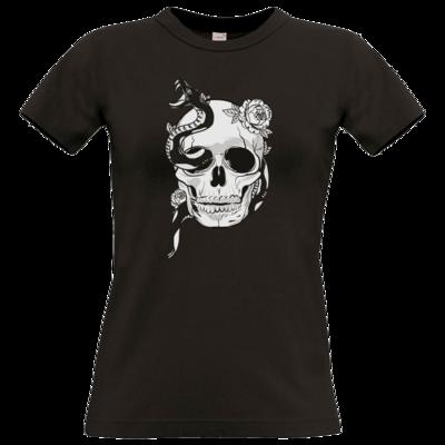 Motiv: T-Shirt Damen Premium FAIR WEAR - Totenkopf
