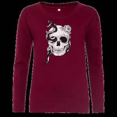 Motiv: Girlie Crew Sweatshirt - Totenkopf