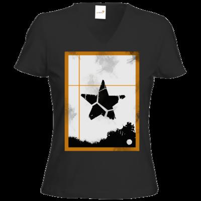 Motiv: T-Shirts Damen V-Neck FAIR WEAR - Stern