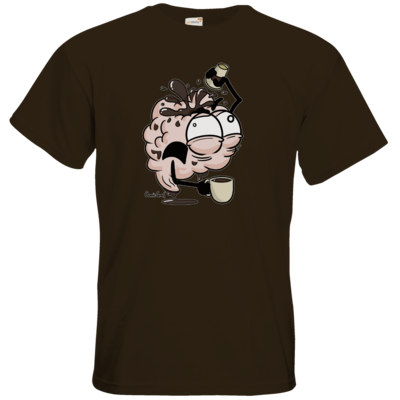 Motiv: T-Shirt Premium FAIR WEAR - Kaffeehirn