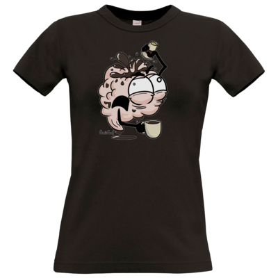 Motiv: T-Shirt Damen Premium FAIR WEAR - Kaffeehirn