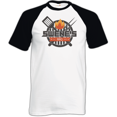 Motiv: TShirt Baseball - Swene´s BBQ