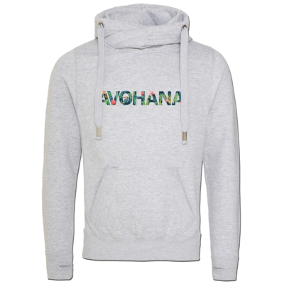 Motiv: Cross Neck Hoodie - Tropical