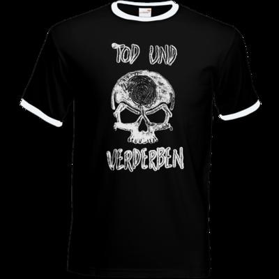 Motiv: T-Shirt Ringer - Silvestertour - Monochrom