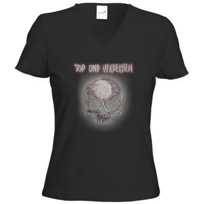 Motiv: T-Shirts Damen V-Neck FAIR WEAR - To-do-Liste - Mehrfarbig