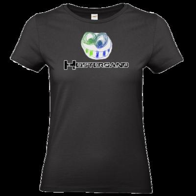 Motiv: T-Shirt Damen Premium FAIR WEAR - Schwarzer Schriftzug mit Pride-Fratze
