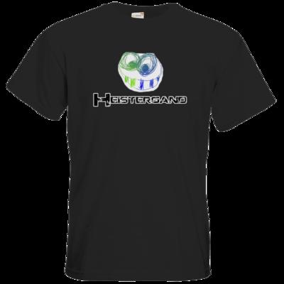 Motiv: T-Shirt Premium FAIR WEAR - Schwarzer Schriftzug mit Pride-Fratze