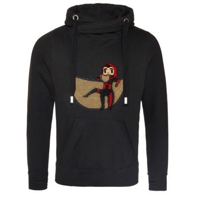 Motiv: Cross Neck Hoodie - Hunter Couch