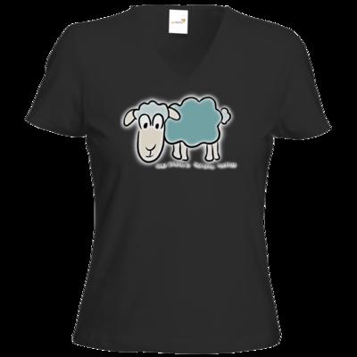 Motiv: T-Shirt Damen V-Neck Classic - ZOS Original Schaf