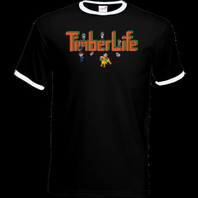 Motiv: T-Shirt Ringer - TimberLife Schriftzug