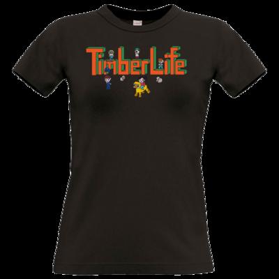 Motiv: T-Shirt Damen Premium FAIR WEAR - TimberLife Schriftzug
