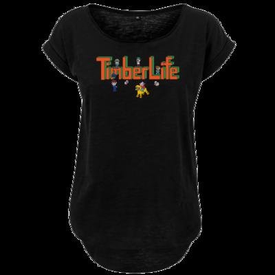 Motiv: Ladies Long Slub Tee - TimberLife Schriftzug