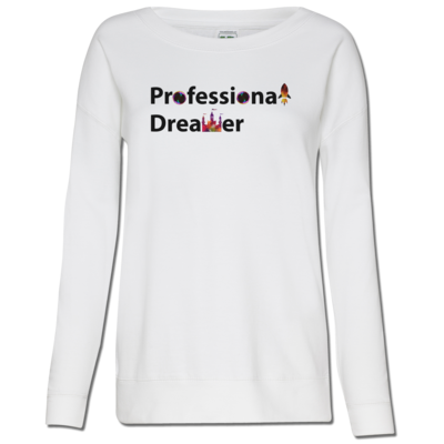 Motiv: Girlie Crew Sweatshirt - Professional Dreamer