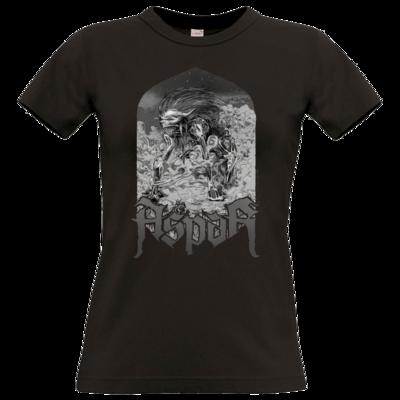 Motiv: T-Shirt Damen Premium FAIR WEAR - Skeletor Demon Frame