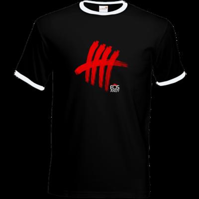 Motiv: T-Shirt Ringer - Striche