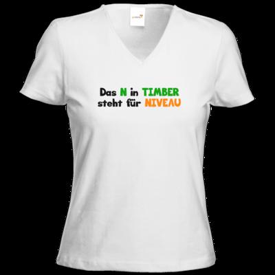Motiv: T-Shirts Damen V-Neck FAIR WEAR - Niveau