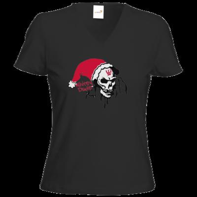 Motiv: T-Shirt Damen V-Neck Classic - Santa