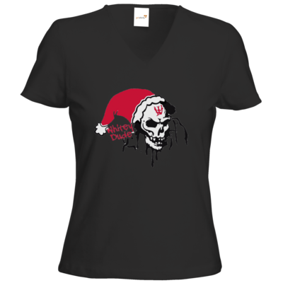 Motiv: T-Shirts Damen V-Neck FAIR WEAR - Santa