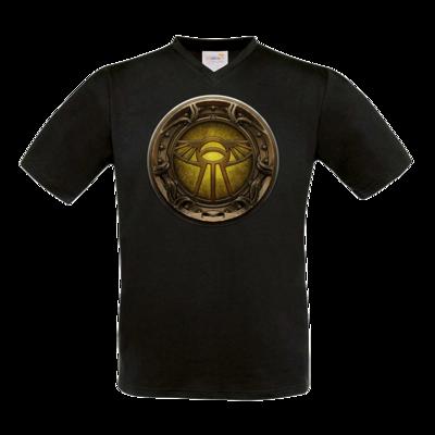 Motiv: T-Shirt V-Neck FAIR WEAR - Götter Siegel - Praios
