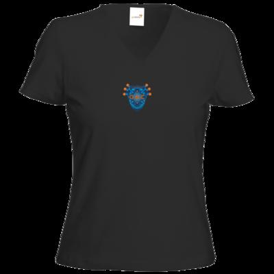 Motiv: T-Shirt Damen V-Neck Classic - O.N.C Logo KLEIN