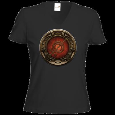 Motiv: T-Shirt Damen V-Neck Classic - Götter Siegel - Rondra