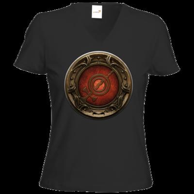 Motiv: T-Shirts Damen V-Neck FAIR WEAR - Götter Siegel - Rondra