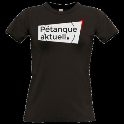 Motiv: T-Shirt Damen Premium FAIR WEAR - Petanque Aktuell Logo