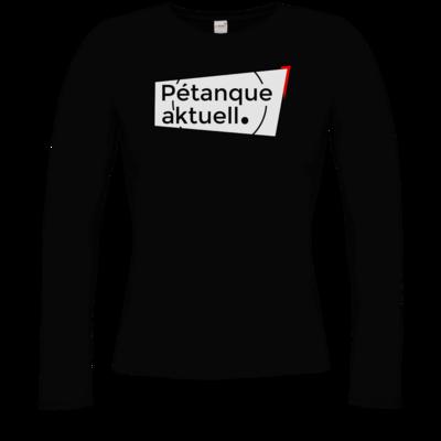 Motiv: Longsleeve Damen Organic - Petanque Aktuell Logo