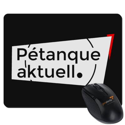 Motiv: Mousepad Textil - Petanque Aktuell Logo
