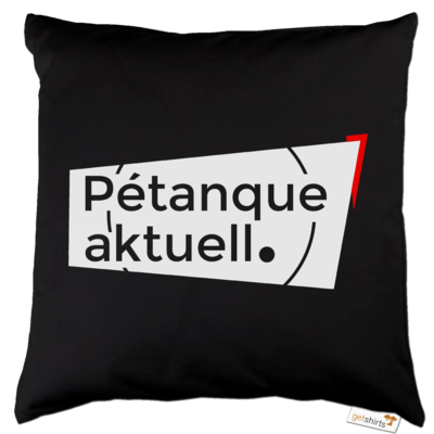 Motiv: Kissen Baumwolle - Petanque Aktuell Logo