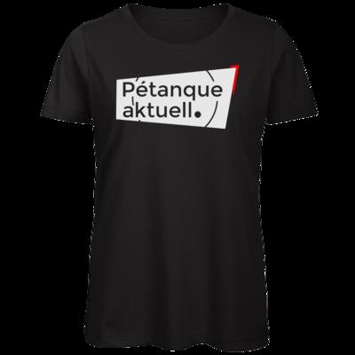 Motiv: Organic Lady T-Shirt - Petanque Aktuell Logo