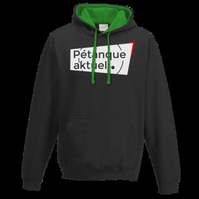 Motiv: Two-Tone Hoodie - Petanque Aktuell Logo