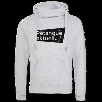 Motiv: Cross Neck Hoodie - Petanque Aktuell Logo