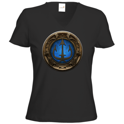 Motiv: T-Shirt Damen V-Neck Classic - Götter Siegel - Efferd