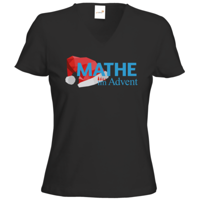 Motiv: T-Shirts Damen V-Neck FAIR WEAR - Mathe im Advent Logo