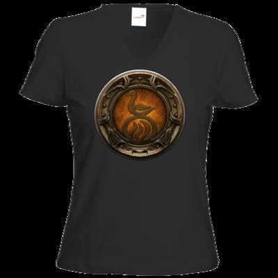 Motiv: T-Shirt Damen V-Neck Classic - Götter Siegel - Travia