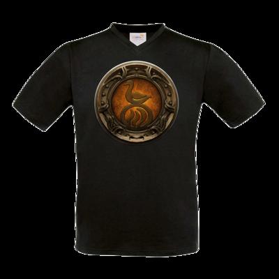 Motiv: T-Shirt V-Neck FAIR WEAR - Götter Siegel - Travia