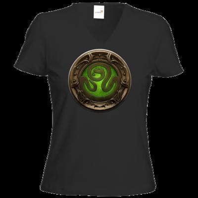Motiv: T-Shirt Damen V-Neck Classic - Götter Siegel - Hesinde
